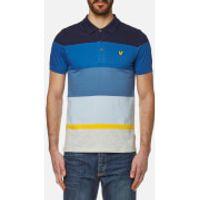 Lyle & Scott Mens Engineered Stripe Polo Shirt - Navy - XXL