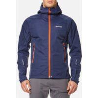 Montane Mens Atomic Rain Shell Jacket - Antarctic Blue/Tangerine - XL