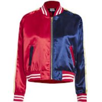 DC Suicide Squad Womens Varsity Jacket - Red/Blue - XL