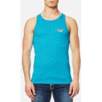 Superdry Mens Orange Label Hyper Pop Grit Vest - Hawaii Blue Grit - S
