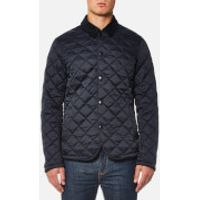 Barbour Mens Drill Quilted Jacket - Navy - M - Navy