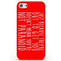 Phone Case - 3D Full Wrap - Plastic - iPhone 5c Paranoid! - Black