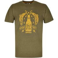 Weird Fish Great Taste Graphic Print T-Shirt Military Olive Marl Size 4XL