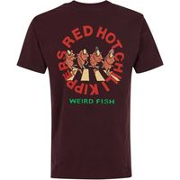 Weird Fish Red Hot Chili Kipper Artist T-Shirt Mulled Wine Size L