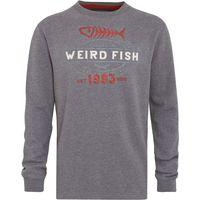 Weird Fish Statement Crew Neck Sweatshirt Grey Marl Size 5XL