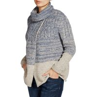 Weird Fish Rosbeth 2 tone Knitted Chunky Cardigan Storm Size 18