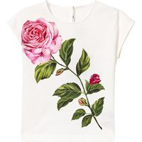 White Rose Embroidered Tee