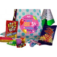 Fabulous Personalised Party Bags for Girls - Blue Polka