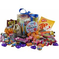 A Love Cube Packed with Retro Sweets - for Him