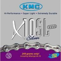 KMC X10-SL Silver 10 Speed Bike Chain
