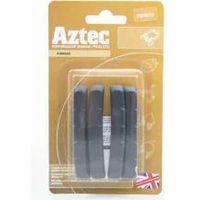 Aztec V-type insert brake blocks standard charcoal 2 pairs