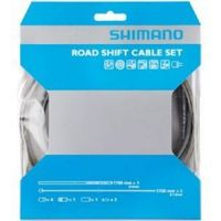 Shimano Road gear cable set with PTFE coated inner wire high tech grey