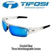 Tifosi Lore Crystal Clear Clarion Blue 3 Lens Set Sunglasses