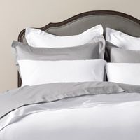 Luxury Plain Linen - Fitted Sheet Super King White