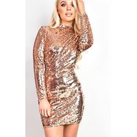 IKRUSH Womens Amia Sequin Bodycon Dress