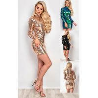 IKRUSH Womens Harper Sequin Bodycon Dress