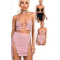 IKRUSH Womens Lacey Lace up Co-ord