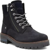 Lilley Womens Black Faux Shearling Riding Boot