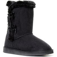 Black Toggle Womens Boot with Faux Fur Lining