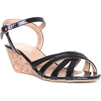 Lilley Womens Tan and Gold Plaited Sandal