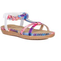 Lilley Womens Strappy Flower Sandal in Taupe