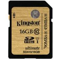 Kingston Ultimate - Flash memory card - 16 GB - UHS Class 1 / Class10 - 233x - SDHC