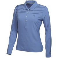 Puma Golf Ladies Woven Long Sleeve Polo Shirt