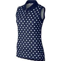 Nike Ladies Precision Print Sleeveless Polo Shirt