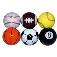 Novelty Sports Golf Balls (6 Balls)
