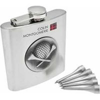 Golfers Hip Flask Set (Colin Montgomerie Collection)