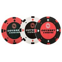 Odyssey Poker Chip Ball Markers (3 Pack)