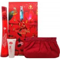 Kenzo Flower Tag Gift Set 100ml EDT   50ml Body Lotion   Make Up Bag