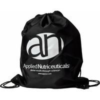 Applied Nutriceuticals Drawstring Sling Bag  Black