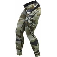 Better Bodies Women's Camo Long Tights Small Green Camo Print
