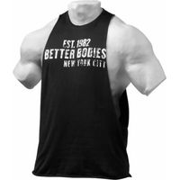 Better Bodies Graphic Logo Sleeveless Tee Medium Black