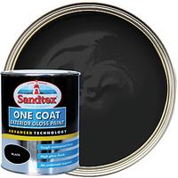 Sandtex 1 Coat Exterior Gloss Black 750ml
