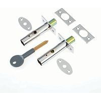 Yale P-2PM444-CH-2 Door Security Bolts Chrome Pack 2