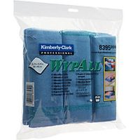 Wypall Microfibre Blue Cloths 4 Pack