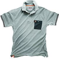 Scruffs Worker Polo T-shirt Light Grey M