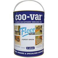 Coo-var Floor Paint Forest Green 5L