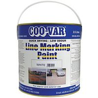 Coo-var Low Odour Line Marking Paint White 2.5L
