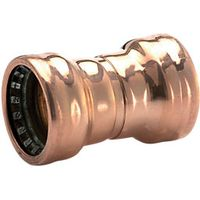 Wickes Copper Pushfit Coupler 15mm Pack 5