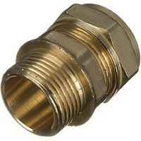 Wickes Compression Male Iron Coupler 22mm