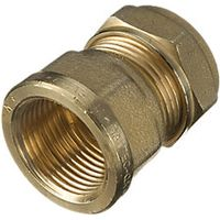Wickes Female Iron Straight Coupler 19 x 22mm