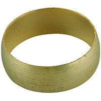 Wickes Compression Brass Olives 15mm Pack 8