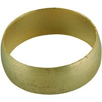 Wickes Compression Brass Olives 22mm Pack 5