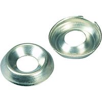 Wickes Nickel Screw Cup Washers No.10 Pack 20