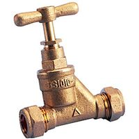 Wickes Brass Stop Cock 15mm