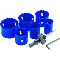 Wickes Multi-purpose Hole Saw Set 6 Piece