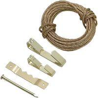 Wickes Picture Hanging Kit Brass